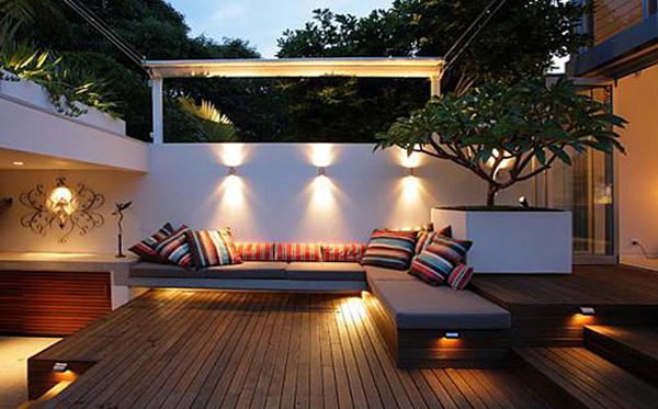 Ιδέες φωτισμός κήπου εξωτερικού χώρου