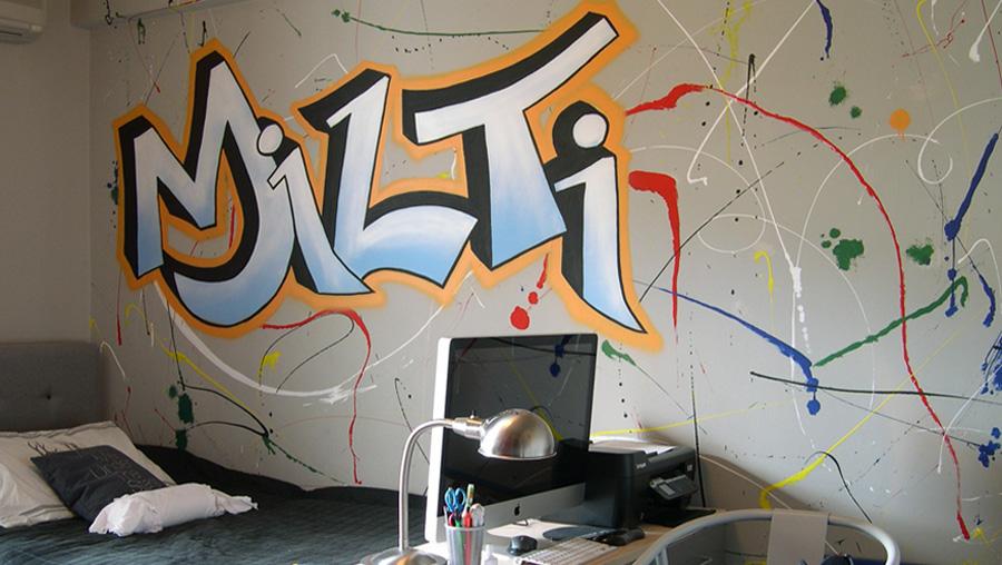 Ιδέες ζωγραφική τοίχος διακόσμηση εφηβικό παιδικό δωμάτιο