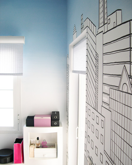 Teenager room wall mural