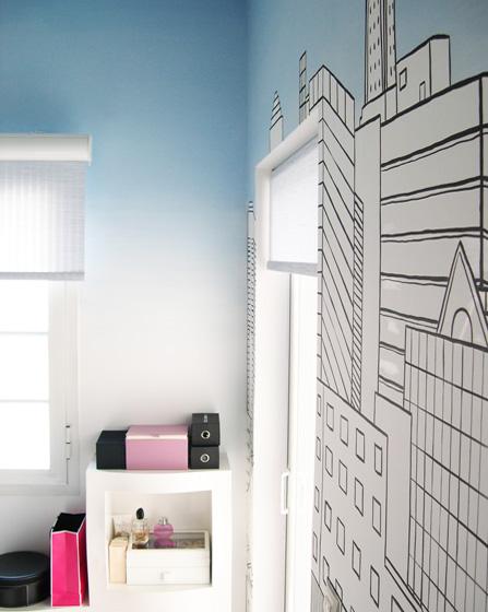 Ιδέες ντεγκραντέ τοίχος δωμάτιο παιδικό εφηβικό