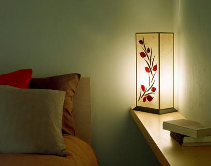 Φωτιστικό κομοδίνου επιτραπέζιο με φύλλα