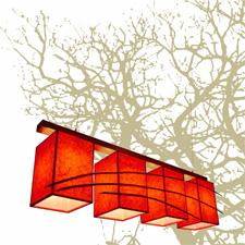 Κρεμαστό φωτιστικό τραπεζαρίας σαλονιού τετράφωτο