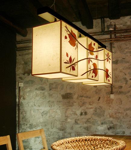 Φωτιστικό κρεμαστό τραπεζαρίας σαλονιού με φύλλα