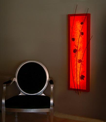 Φωτιστικό τοίχου πίνακας φωτιζόμενος με φύλλα