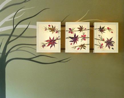 Φωτιστικό τοίχου πίνακας τρίπτυχο