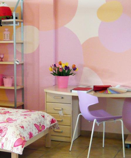 Κοριτσίστικο δωμάτιο χρώματα τοίχος