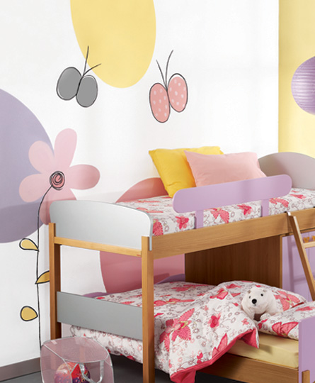 Girls room wall painting