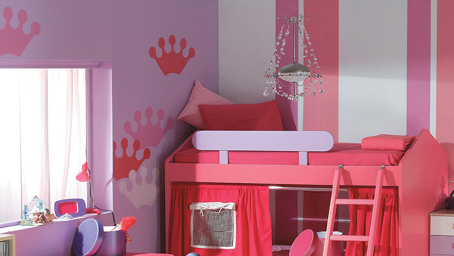 Girl's room wall mural