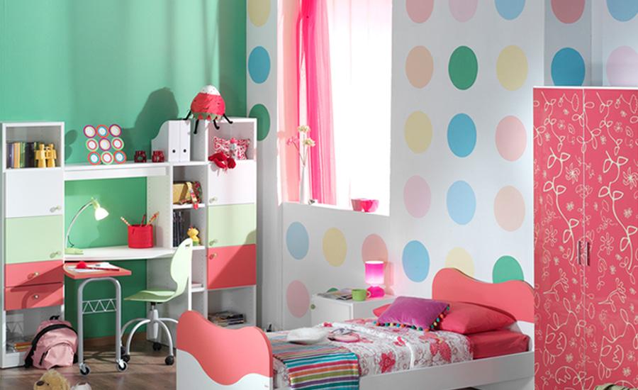 Διακόσμηση τοίχου δωμάτιο για κορίτσι