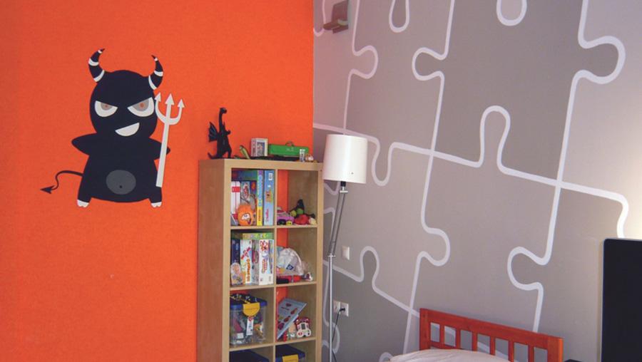 Ιδέες ζωγραφκιή τοιχογραφία δωμάτιο για αγόρι