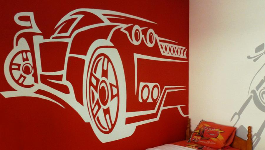 Παιδικό δωμάτιο αγόρι διακόσμηση τοίχος