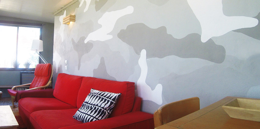 Living room wall painting