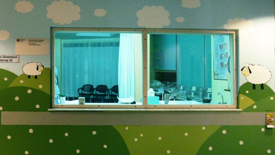 Ζωγραφική αυτοκόλλητο ζωάκια βρεφικό δωμάτιο