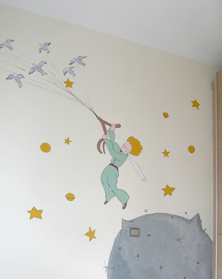Baby room wall mural