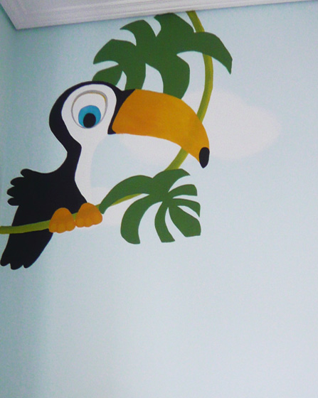 Baby room wall painting