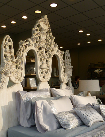 Bed linen visual merchandising