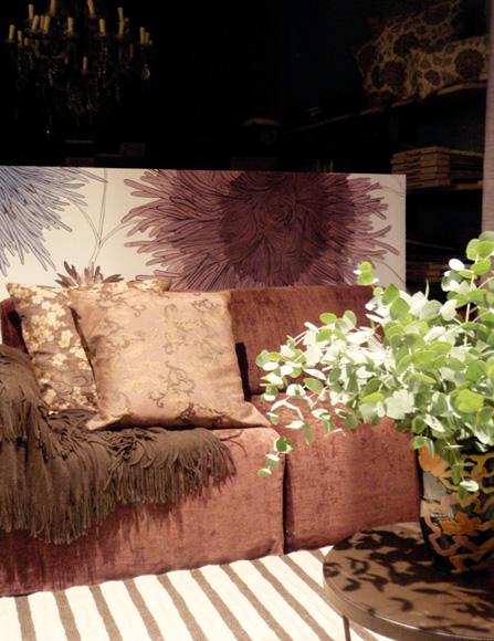 ζωγραφική διακόσμηση βιτρίνας λουλούδια