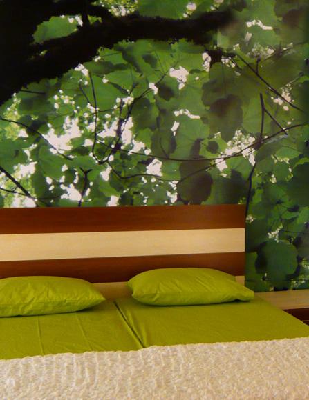 Ταπετσαρία φωτογραφική κρεβάτι δέντρο