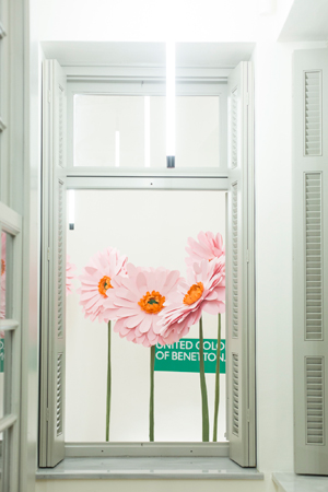 Benetton spring launching set decoration