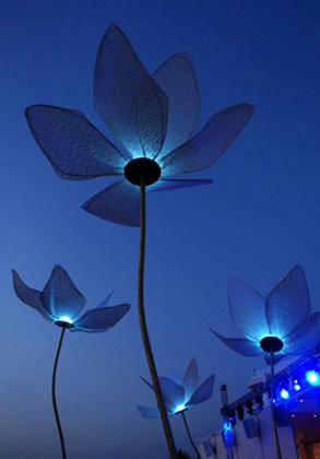Τεχνητά λουλούδια φωτιστικά για γάμους
