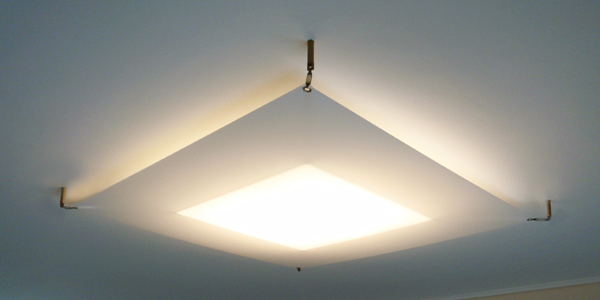 Φωτιστικό οροφής πλαφονιέρα με ακρυλικό ύφασμα