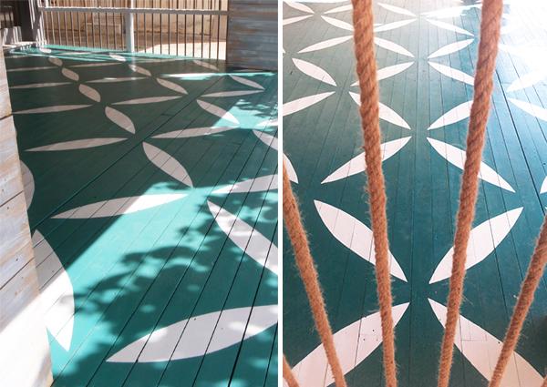 Διακόσμηση ξύλινου δαπέδου με χρώμα