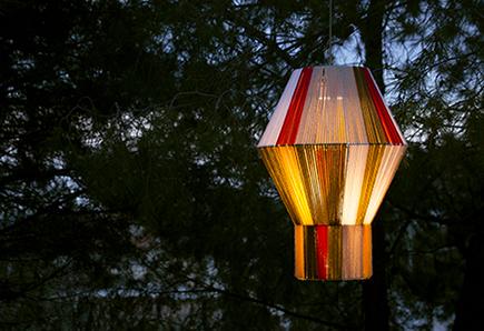 Φωτιστικό boho με χρώματα