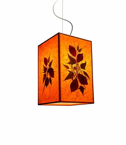 Φωτιστικό κρεμαστό μονό πορτοκαλί
