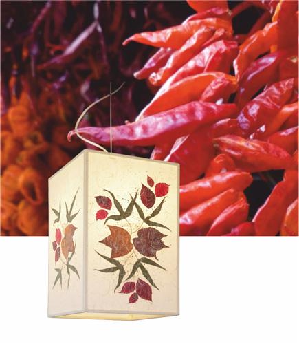 Κρεμαστό φωτιστικό υπνοδωματίου με φύλλα