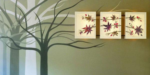 Φωτιστικό τοίχου απλίκα πίνακας τρίπτυχος