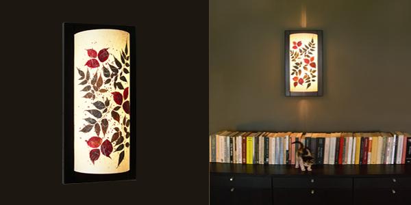 Φωτιστικό τοίχου απλίκα διακόσμηση με φύλλα